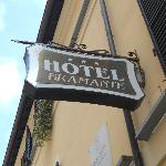 Hotel Bramante: sign as viewed from street