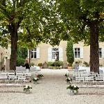 The beautiful courtyard before the ceremony
