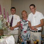 Milos, Janina and Bowyan - lovely people in the SAGA bar
