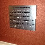 Elevator instructions