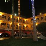 Hotel Del Sol by night.