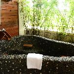 the hot spring in the Jap Suite