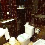 salle de bain fonctionnelle mais pas très moderne