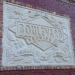 Sign outside the brewery