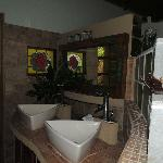 Bathroom area in one of the suires