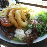 Steak and (real!) Chips at the George!
