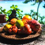 Fresh fruit on the room's balcony