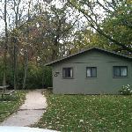 Outside of cabin 1