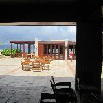 View from the Peter Island Resort lobby looking at Tradewinds