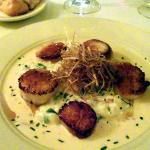 Plump sea scallops