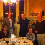Dinner in the private dining room, photo with the Chef