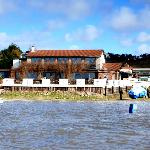 Sailing along the River Dee