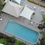 View of pool from 11th floor balcony