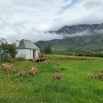 Blick auf das Cottage/ Honeymoonsweat