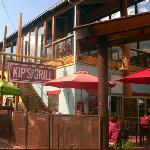 Kip's Grill outside entrance with bar on top