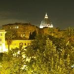 view from vatican vista at night
