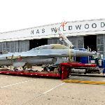 F-16 being delivered