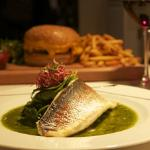 sea bass fillets & cheeseburger