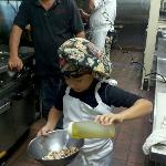 Our newest chef at work
