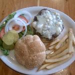 Moose Creek Cafe - Bleu Buffalo Burger