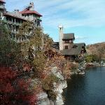 Mohonk Mountain House from the trail