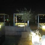 Roof top terrace at night