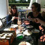 Enjoying our picnic