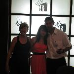 my daughter and 2 of reception staff