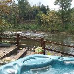Jacuzzi/river view