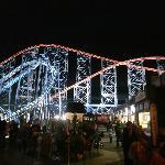Blackpool Pleasure Beach at night