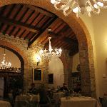 Inside the main dining area