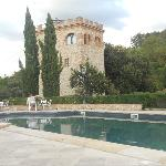 Castle tower and pool