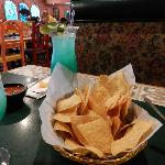 Chips and Blue Agave Margarita - off to a great start...