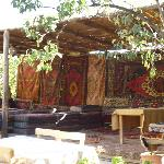 The outdoor lounge