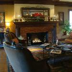 The living room in the main house.