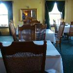 The dinning room in the main house.