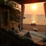 Sundowners on the day bed in the lounge, followed by dinner on the beach.