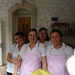 Some of the wonderful staff at Zeytin Konak Hotel.