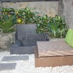 Outdoor bath and lounge