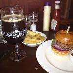 A basic burger and beer lunch
