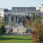 View of Eyre Square from 3rd Floor Room