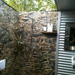Dairy- indoor/outdoor bathroom