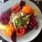 tavuklu salata /chicken salat
