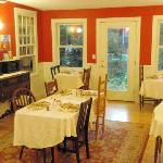 one of two dining rooms