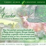 The perfect present of a Three Acres Gift Voucher