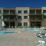 Pool area in September