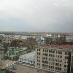View from 22nd floor towards Old Port