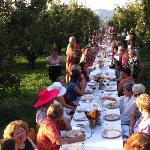 We provided baguettes for 170 for dinner at Kiyokawa Orchard this summer--what a fun night!