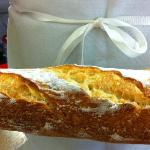 If only this were a scratch and sniff photo!  Fresh baguette.