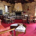 Upstairs dining room fireplace